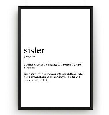 SIBLINGS DEFINITION PRINT, Home Decor, Minimalist Poster