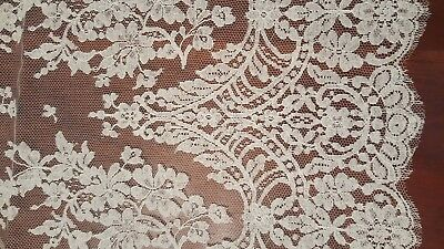 Authentic French Lace Wide Border Both Sides 64 in by 62 in