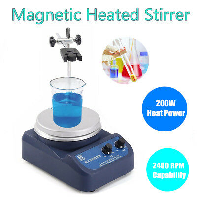 2L Magnetic Stirrer Hot Heating Plate 78-1 Mixer Dual Control Laboratory 110V