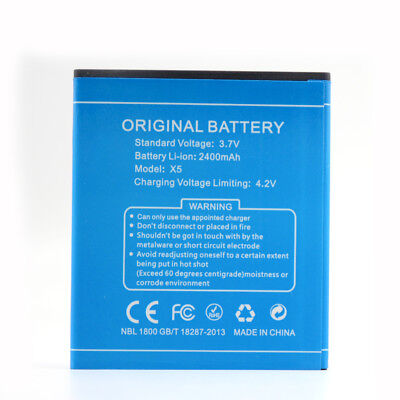 Top Spare Battery For DOOGEE X5 , X5 Pro Phone Rechargeable 2400mAh 3.7v Li-ion