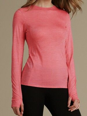 Ex M*S Long Sleeve Thermal Top Base Layer in Pink Size 12 16 (P64)