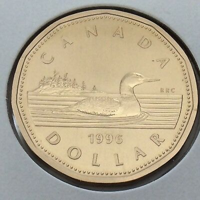 1996 Canada 1 One Dollar Loonie Canadian Brilliant Uncirculated Coin G531