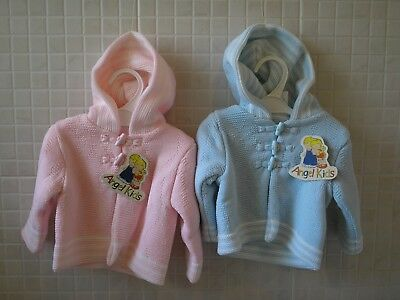 Baby Boy Girl Spanish Style knitted Coat Cardigan Blue Pink 0-3m 3-6m 6-9months