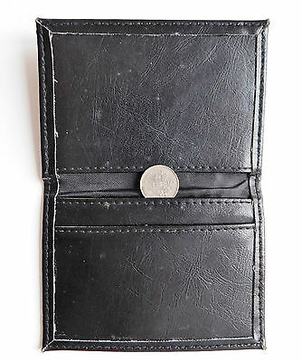 Small black credit card wallet for men or women