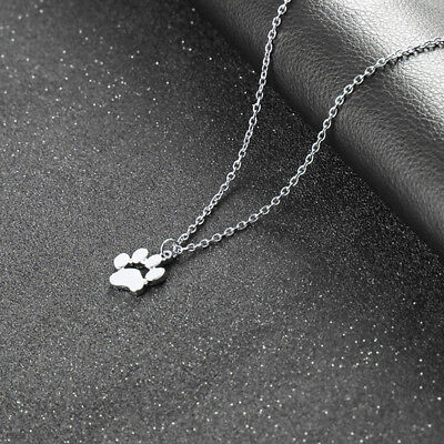 Lovely Pet Dog Cat Paw Print Pendant Necklace Women Fashion Jewelry Gift 6A