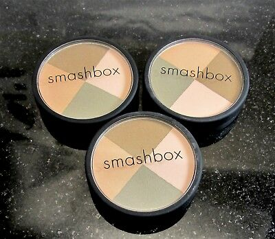 LOT OF THREE Smashbox  JUXTAPOSE  EYE SHADOW Quad Big 2 1/2 inch Size Compact