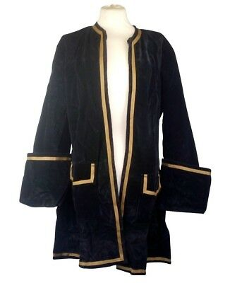 "Frock Coat Velvet LARP Pirate Medieval Reenactment 4 colours fits upto 48"" chest"