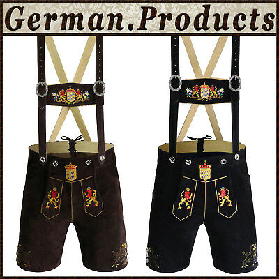 Authentic German Bavarian Trachten Oktoberfest Mens Short Lerderhosen Outfit Gp1