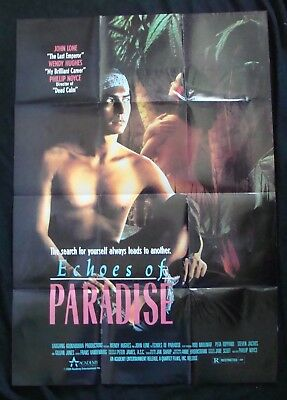 ECHOES OF PARADISE movie poster WENDY HUGHES original 1989 video promo         E