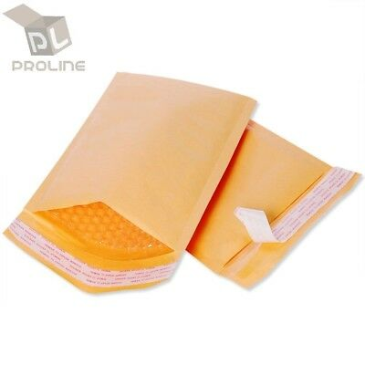 100 #0 Extra Wide Kraft Bubble Padded Envelopes Mailers 6.5x10 (Inner 6.5x9)
