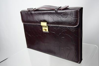 Vintage real calf leather EXECUTIVE PEN NOTEPAD BUSINESS CARDS HOLDER