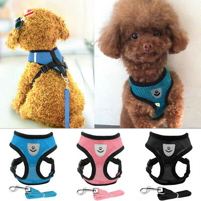Safety Air Mesh Fabric Cat Dog Harness and Leash Set Kitten Walking Jacket