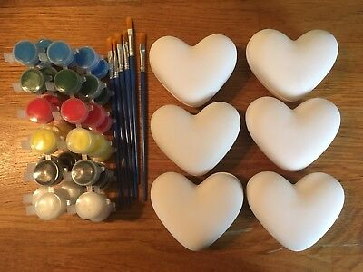 Paint Your Own Ceramic Heart Trinket Box