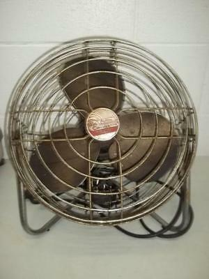 "Patton Air Circulator VINTAGE High Velocity Fan 13"" Metal - WORKING"