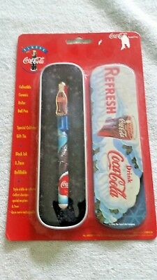 Coke Pen with Tin holder New on card