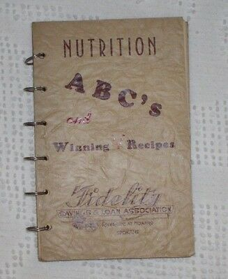 Nutrition ABCs Fidelity Savings Spokane promotional giveaway cookbook clock 1943
