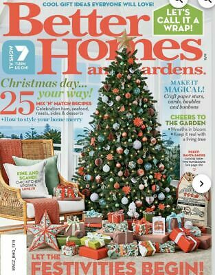 Better Homes & Gardens BHG Magazine Christmas 2019 Issue - NEW