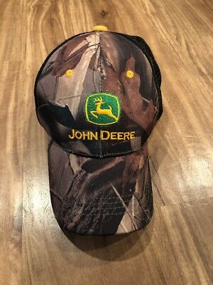 8b35dc82c0402 John Deere Timber Camo Twill mesh Backing Cap Hat