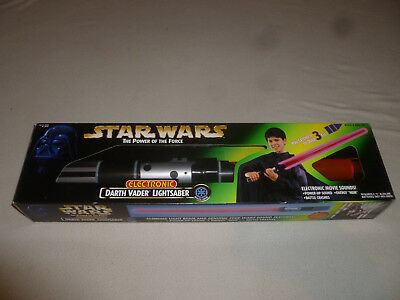 New Star Wars Electronic Darth Vader Lightsaber The Power Of The Force Kenner