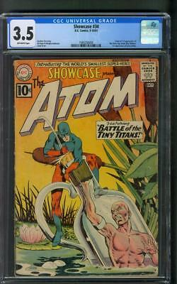 Showcase 34 1st Silver Age Atom CGC 3.5 Gil Kane Murphy Anderson Cover 1961