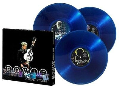 US IMPORT RARE David Bowie Reality Tour Blue 3LP THE FIRST PRESS JUNE (2016)