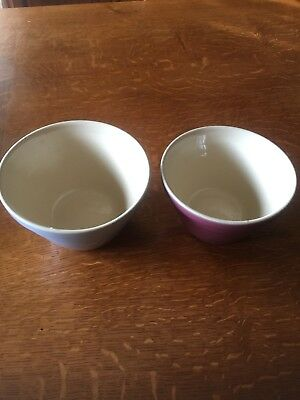 Vintage Hoffman Bowls Mixing Pudding Kitchenalia Pair