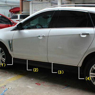 For Cadillac SRX 2010-2016 Stainless Side Door Body Mouldings Cover Trim Strips