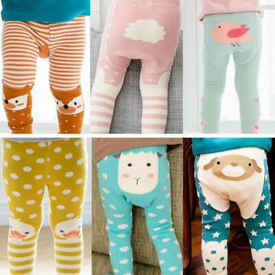 8115 Cotton Fashion Cute Cartoon Animal Warm Breathable PP Pants Baby Warmer