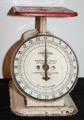 Antique Universal Household Scale 24 lbs Landers Frary Clark New Britain, CONN