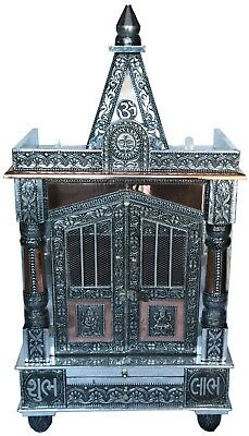 "Oxidised Copper Puja Pooja Mandir Hindu Temple 15""W X 9""D X 28.5""H_UK Seller"