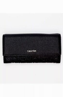 50cbdca8bf CALVIN KLEIN WOMEN'S Misha Large Trifold Wallet Purse - Black