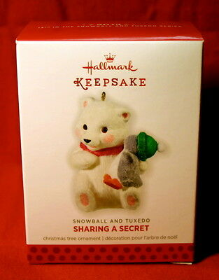 Hallmark Ornament 2013 Sharing A Secret # 13 In The Snowball And Tuxedo Series