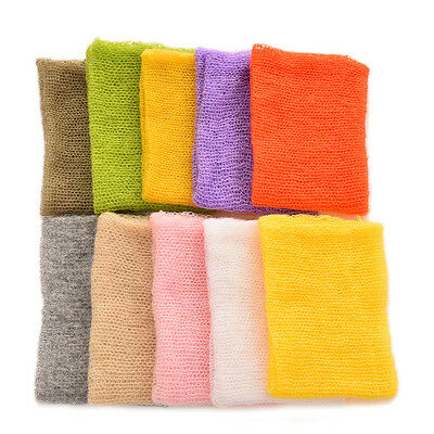 Newborn Baby Mohair Crochet Knit Wrap Cloth Photography Props Baby Photo Cool bO