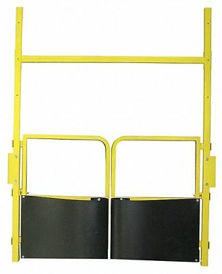 """Ps Doors 42"""" to 84""""H Deck Mounted Pallet Safety Gate; Opening Width: 5 ft."""