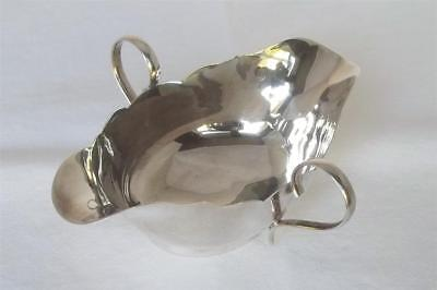 Rare Antique Solid Sterling Silver Twin Handled Twin Spout Sauce Boat Dates 1917