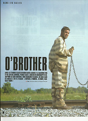 O'brother - George Clooney - Interview / 2000 Article Presse Reportage