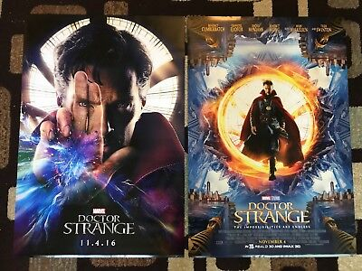 Doctor Strange Original Movie Poster 27X40 DS U.S. Lot Of 2 Both Styles 2016