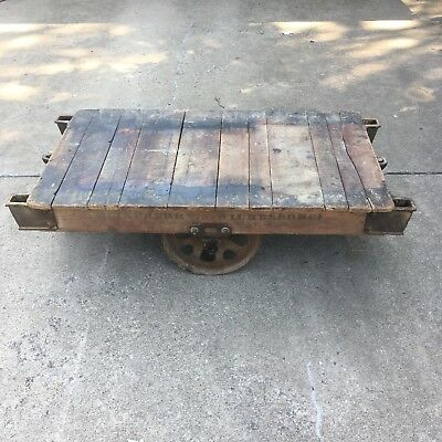Lineberry Railroad Factory Cart Coffee Table Steam Punk
