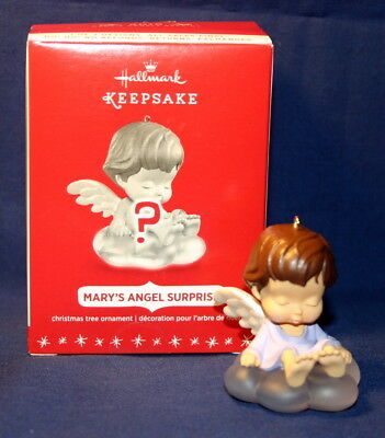 Hallmark Ornament 2016  Mary's Angel Surprise Lavender With Brown Hair