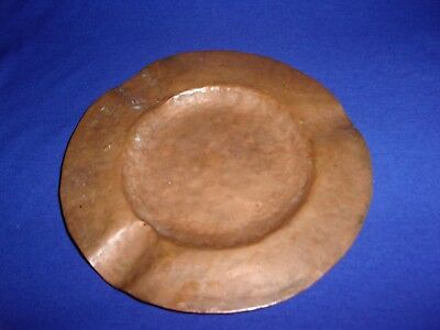 Copper Hand Hammered Arts Crafts Ashtray Cigar Cigarettes Mission era