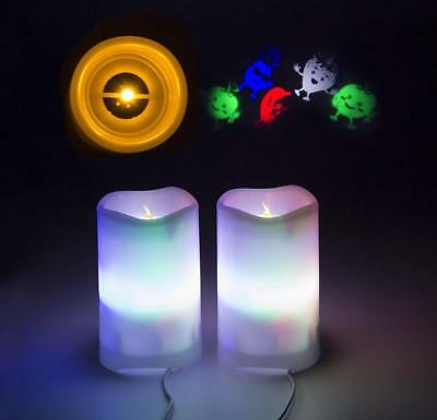 Shineart Flameless Candles with Remote Control - Timer LED Candle Projection...