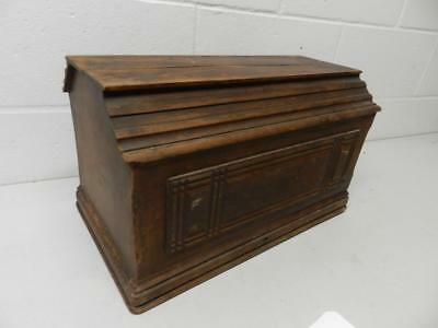 Antique Sewing Machine Wooden Top Cover Coffin Case Lid