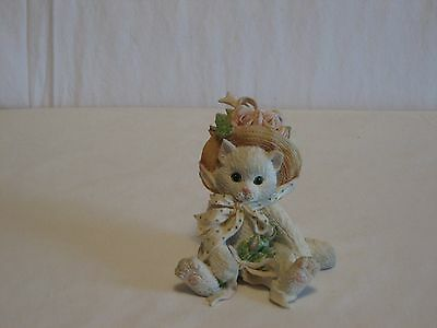 """Calico Kittens- """"Our Friendship Blossomed From The Heart""""-1992 Figurine"""