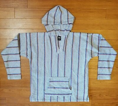 ff1830403629d8 MEN'S BAJA NEPAL Cardigan Poncho Sweater Wool with Fleece Lining and ...