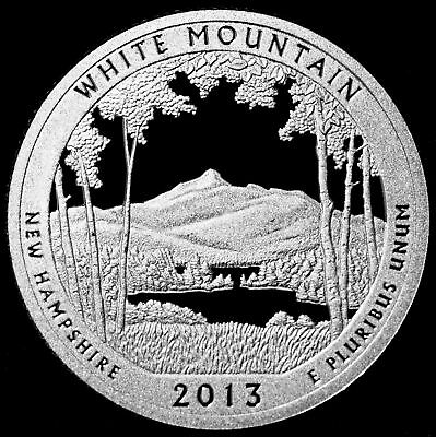 2013 S White Mountain NH Silver Mint Proof National Pk.from Proof Set.FREE DEL.