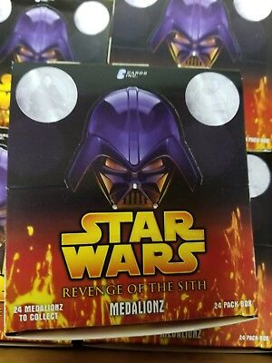 Rare 2006 Star Wars Revenge of the Sith ROTS Medalionz Unopened Pack Box