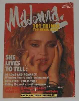 Madonna 101 Things You Never Knew Star Blitz 1986 UK Small Magazine Number 26