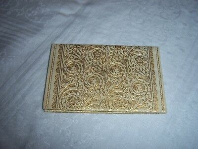 Antique Small Leather Embossed Gilt Wallet~Billfold~Calling Card Holder ~ 1921