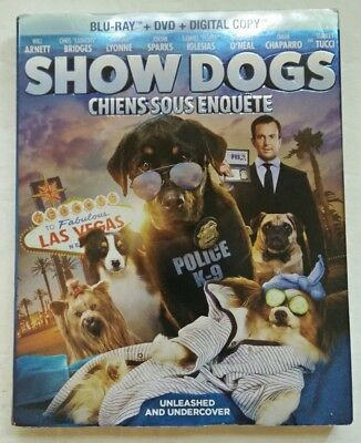 Show Dogs (Blu-ray/DVD/Digital Copy, 2018)  Brand New with VG Slipcover
