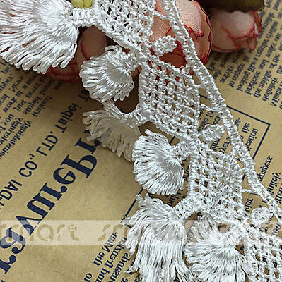 0d9e5b958 1 YARD WHITE Vintage Wide Crochet Lace Trim Embroidery Ribbon Sewing ...